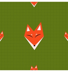 Red Fox Green Background vector image