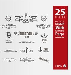 Restaurant banners vector image vector image