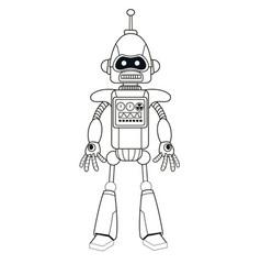 robot machine engineering thin line vector image vector image