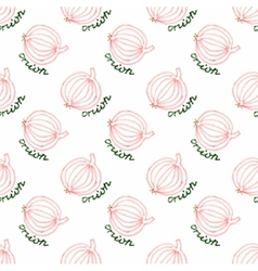 Seamless watercolor pattern with onion on the vector image vector image