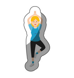 Woman athlete dancing avatar character vector