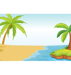 Palm beach background vector