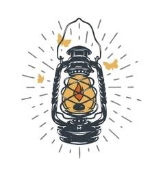 Kerosene lamps vintage design vector image