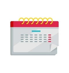 Calendar app icon in flat design web organizer vector
