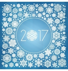 New year 2017 with white snowflakes vector