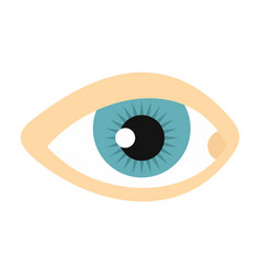 blue human eye icon flat style vector image