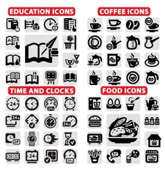 big icon set vector image