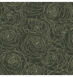 Seamless floral background with flowers rose vector