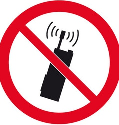 No Mobile Phones Safety Sign vector image
