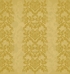Background floral vertical stripe gold vintage vector