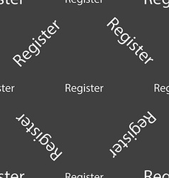 Register sign icon membership symbol website vector
