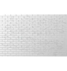 White grunge brick wall vector