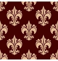 Ornamental floral fleur-de-lis seamless pattern vector