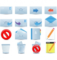 email icons set vector image