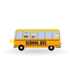 Back to school background with yellow bus and vector