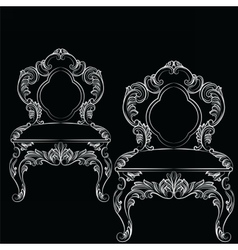 Baroque luxury style chair vector