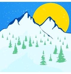 Beautiful winter landscape background vector