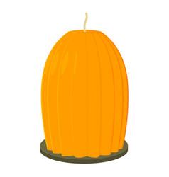 big orange candle icon cartoon style vector image vector image