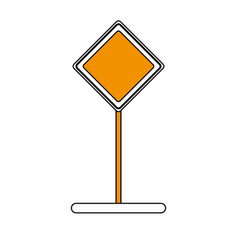 blank road sign icon image vector image vector image