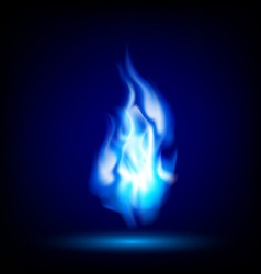 Blue flame on a black background vector