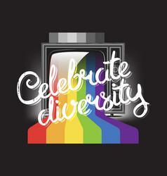 Celebrate diversity concept vector