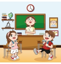 Classroom back to school design vector