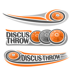 discus throw vector image