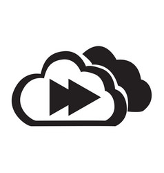 flat black cloud the next button icon vector image vector image