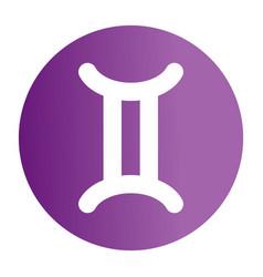 Flat color gemini sign icon vector