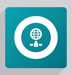 flat internet icon vector image vector image