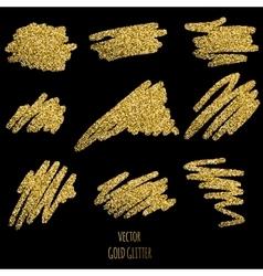 Gold glitter background vector