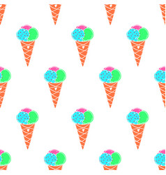 Ice-cream pattern colored-18 vector