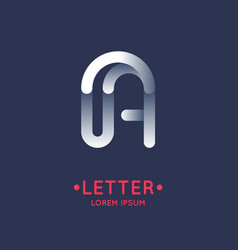 modern linear logo and sign the letter a vector image