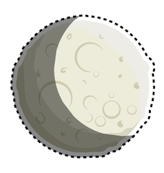 Moon of the solar system vector