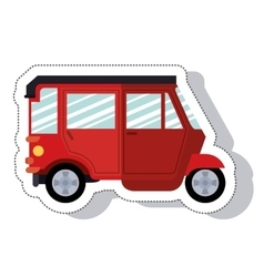 Moto taxi service isolated icon vector