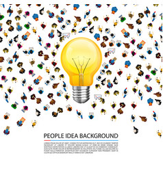 people around a llama on a white background vector image vector image