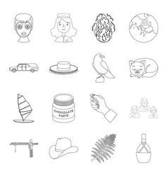 people bottle wineand other web icon in outline vector image vector image