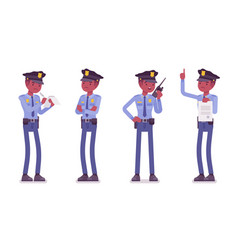 policeman on duty vector image vector image