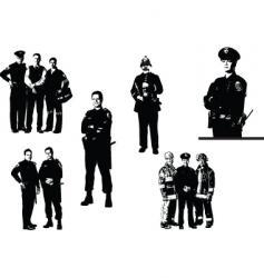 policemen vector image vector image