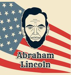 President abraham lincoln poster banner or vector