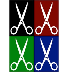 Set colorful backgrounds with scissors vector