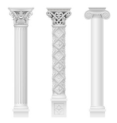 set of classical columns vector image