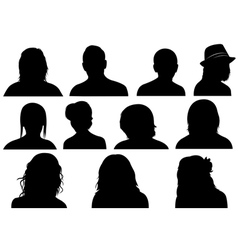 Set Of Men And Women Heads vector image vector image