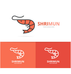 shrimp and seafood logo design template vector image vector image