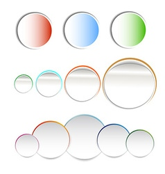 Stickers paper vector image vector image
