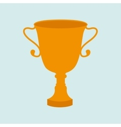 trophy cup design vector image vector image