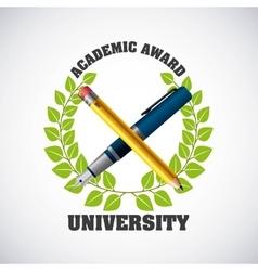 university emblem concept icon vector image