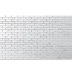 White grunge brick wall vector