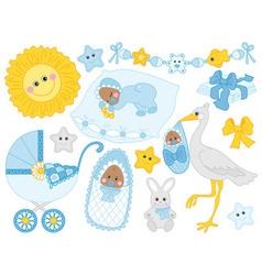 Baby Boy Set vector image