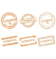 Vitamin B6 stamps vector image
